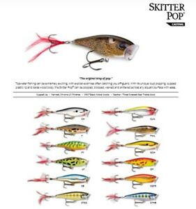 Rapala Skitter Pop // SP05 // 5cm 7g Fishing Lures (Choice of Colors)