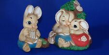 Woodlander Babes Piper Rabbits England Set of Two Bunny