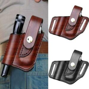 EDC Leather Belt Pouch Pouch For Multitool Flashlight Sheath New