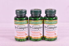 LOT OF 3 Nature's Bounty B - Complex, 125 Coated Tablets (375 TOTAL) EXP: 07/22