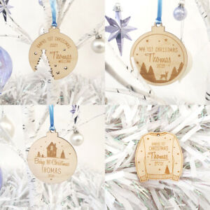 Personalised Babys 1st Christmas Bauble - New Babys / My First Christmas Decor