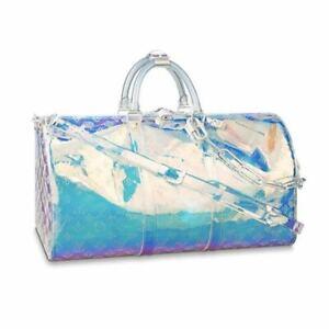 Louis Vuitton Virgil Abloh Keepall 50 Bag M53271 Rainbow Prism LV New w receipt