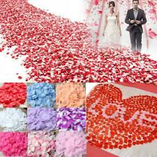 100 PCs colorful silk rose petals flowers red artificial flower decor