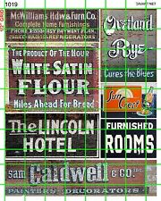 1019 DAVE'S DECALS HOTEL FLOUR CALDWELL ROOMS BUILDING GHOST SIGNS ADVERTISING
