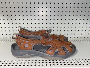 Clarks Privo Womens Fisherman Sandals Water Shoes Size 9.5 Orange Gray