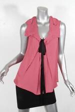 MARNI Womens Red+White Polka Dot Bow Sleeveless Blouse Shirt Tank Top 38 NEW