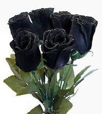 5 Black Rose Rosa Bush Shrub Perennial Flower Seeds + Gift & Comb S/H