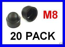 Black Plastic Nut Cover Caps .. M8 - 20 Pack