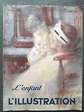"Revue ""L'illustration"" n°4760 : ""L'ENFANT"" (26 mai 1934)"