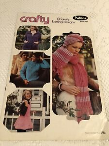 Vintage Patons Knitting Book No 460 Family Knits Scarf, Hat & More