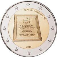 Rolle 25 x 2 Euro Gedenkmünze Malta 2015 Ausrufung der Republik Malta 1974