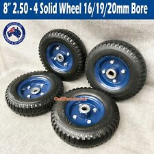 "8"" 2.50-4 Solid Hand Trolley Jockey Wheel Puncture Proof Cart Tyre WheelS Tyres"
