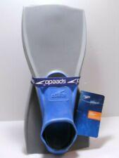 New Speedo Trialon Rubber Swim Fins Size M (Men's 7-8 Women's 8-9) Blue