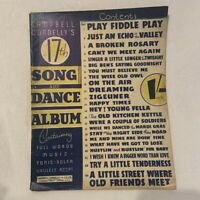 Vintage Piano Sheet Music Campbell Connelly's 17th Song and Dance Album