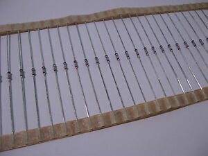 Lot of 100 68100 Ohm 1/8 Watt 1% Metal Film Resistors 68K1 68.1K - NOS