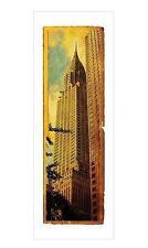 """NEW YORK KUNSTDRUCK / ART PRINT """"CHRYSLER BUILDING"""" - 95x33cm"""