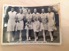 Ardath Photocard - British Wightman Cup Tennis Team 1936 (No. 148)