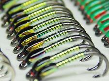 3 X Black and mirage buzzers traffic light cheeks size 10 trout fishing buzzers