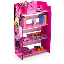 Disney Bookshelf Toy Organizer Minnie Mouse Kid Cubby Book Bin Storage Furniture
