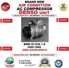 DENSO AIR CONDIZIONE COMPRESSORE AC per BMW Z3 E36 1.9 1995-1999 OEM 64528385915