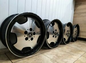 """Lorinser RS90 Mercedes Monoblock 17"""" Alloys Wheels With Tyres W124 Rare"""