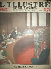 ALLEMAGNE LEIPZIG VAN DER LUBBE DEVANT LES JUGES LE PETIT JOURNAL 1933