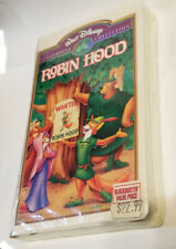 NEW Walt Disney's ROBIN HOOD VHS Masterpiece Collection Clamshell Case Brand New