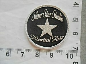 """Vintage sew on Martial Arts Patch       """"SILVER STAR STUDIO""""        free s&h"""