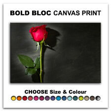 Roses Flower Love FLORAL  Canvas Art Print Box Framed Picture Wall Hanging BBD