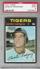 1971 Topps Baseball Aurelio Rodriguez #464 PSA 9