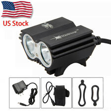SolarStorm 8000Lm 2 x T6 LED Cycling Front Bicycle Lamp Bike Light 6400mAh Lamp