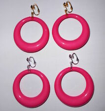 Handmade Acrylic Hoop Costume Earrings