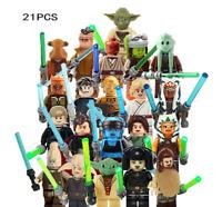 21pcs Star wars Trooper Clone Minifigures Soldier Figure Building Block Kids Toy
