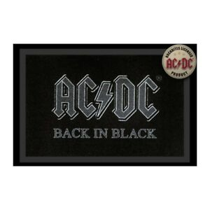 Foot Mats Carpet AC/Dc Back IN Black 15 11/16x23 5/8in 100833
