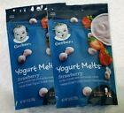 2 Pack Gerber Graduates Strawberry Yogurt Melts Baby Snacks