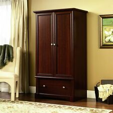 Wardrobe Armoire Sauder Palladia Storage Closet Cherry Finish Furniture New Sale