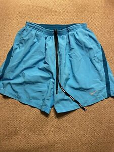 Men's Nike Lined Racing Running Shorts Blue Large L 695440-415