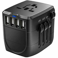 Clearance Travel Adapter, 2400W with 4 Usb Ports, Perfect for Over 150 Countries