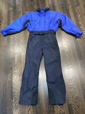 Womens Large COLUMBIA One Piece SNOW SUIT Apres Ski Bib vtg Snowsuit INSULATED