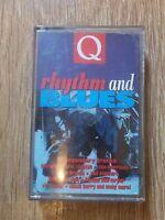 VARIOUS - Q RHYTHM AND BLUES - CASSETTE ALBUM 23 TRACK VAN MORRISON ERIC CLAPTON
