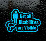 NOT ALL DISABILITIES ARE VISIBLE STICKER - DISABLED SELF ADHESIVE VINYL  DECAL