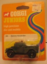"Old Metal Toy Daimler Scout Car 2  1/2"" Corgi Jr Original Package 1973 Nice!"