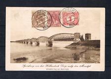 Nederland 1922 Anzicht met 51, 58 en 61 Moerdijk Spoorbrug over Hollandsch Diep