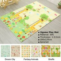 Soft Puzzle Interlocking Baby Kids Play Mats Plush Foam Exercise Floor Mat