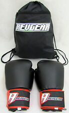 RevGear Boxing Gloves 12 ounce Black and Red Pair Mma Durable Vinyl Martial Arts