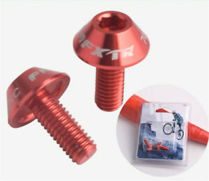 4pcS Water Bottle Cage M5 7L m5 x 7MM   Bolts Screws NAVY GOLD RED