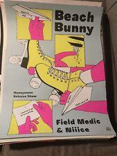 Beach Bunny Gig Concert Poster The Metro Chicago 2/22/20 Honeymoon Release Show