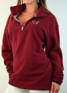 Victoria's Secret PINK Half Zip Sweatshirt Mockneck Fleece Winter Pullover NWT