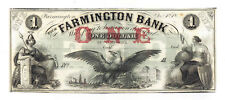 18XX The Farmington Bank, Farmington, NH - One Dollar Obsolete Remainer Note