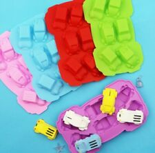 6 x Cars Boys  Chocolate Silicone Mold Jelly Ice Kitchen Soap Fun Party Birthday